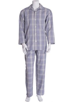 The DON Erkek Ekose Poplin Pijama Takımı