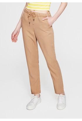 Mavi Kadın Bağcık Detaylı Kahverengi Pantolon