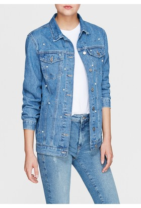 Mavi Kadın Jill İndigo İncili Jean Ceket