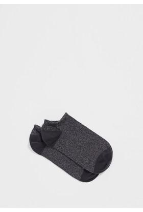 Mavi Kadın Gri Patik Çorap