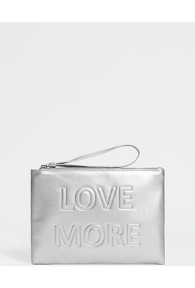 Mavi Kadın Love More Gümüş Renkli Clutch