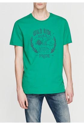 Mavi Erkek Creativity Baskılı Yeşil Tshirt