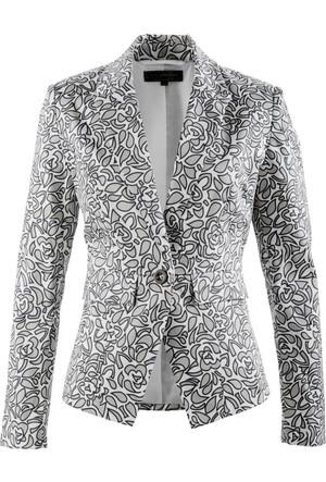 Bonprix Kadın Gri Streç Blazer Ceket