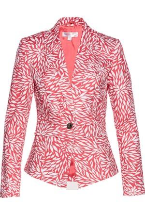 Bonprix Kadın Pembe Streç Blazer Ceket