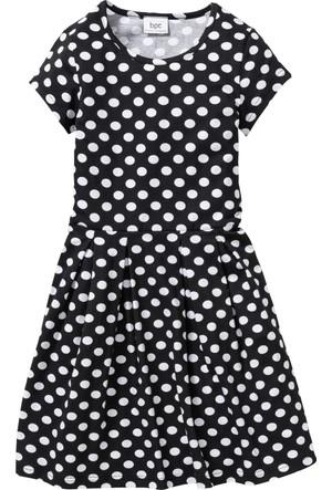 Bonprix Kız Çocuk Siyah Puantiyeli Elbise