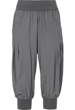 Bonprix Kadın Gri Salaş Kapri Pantolon