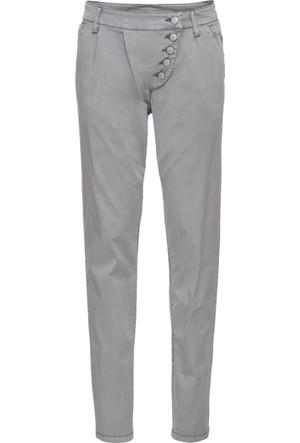 Bonprix Kadın Gri Fit Chino Pantolon