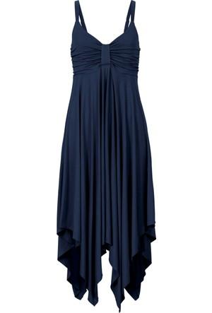 Bonprix Kadın Mavi Asimetrik Kesim Elbise