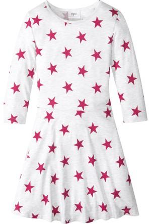 Bonprix Kız Çocuk Beyaz Wow Elbise