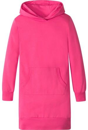 Bonprix Kız Çocuk Pembe Sweat Elbise