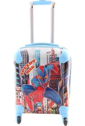 Laguna 2025 Speedy Spider Man Baskılı Erkek Çocuk Valizi Mavi