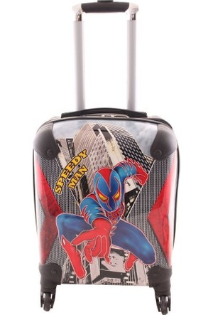 Laguna 2025 Speedy Spider Man Baskılı Erkek Çocuk Valizi Siyah
