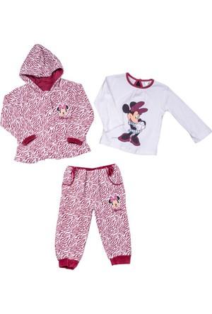 Disney Minnie Mouse Bebek Kadife 3'lü Set 9195
