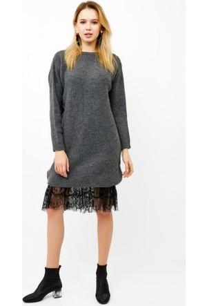 Eka Selanik Örgü Salaş Triko Elbise