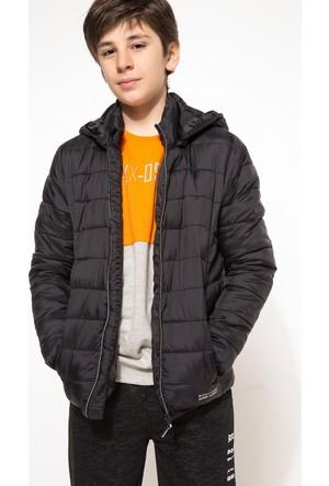 DeFacto Erkek Çocuk Gizli Kapşonlu Polarlı Mont Siyah