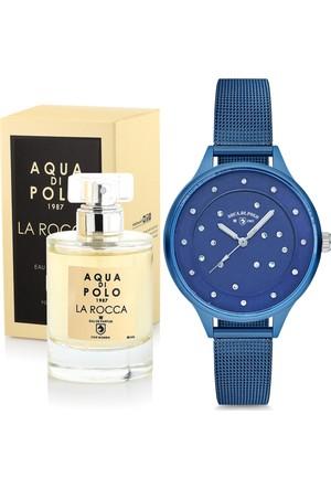 Aqua Di Polo 1987 La Rocco Kadın Parfüm Ve Kol Saati Seti Pkapl24B203404