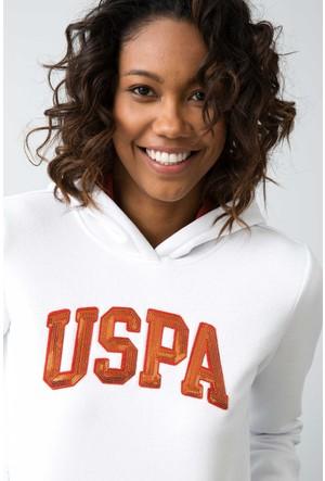 U.S. Polo Assn. Kadın Gizmo-Sk07 Sweatshirt Beyaz