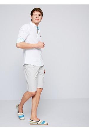 U.S. Polo Assn. Erkek Marco7Y-Ing Şort Gri