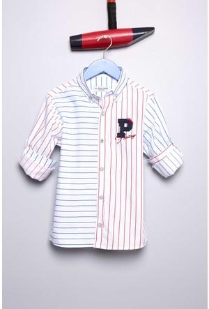 U.S. Polo Assn. Erkek Çocuk Watsonkids Gömlek Beyaz