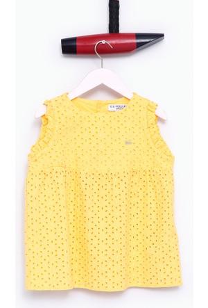 U.S. Polo Assn. Kız Çocuk Gizzakids Gömlek Sarı