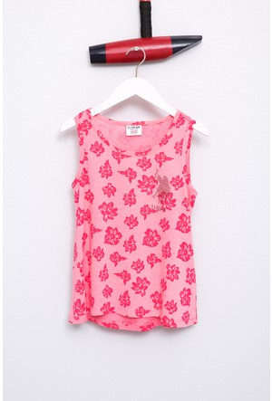 U.S. Polo Assn. Kız Çocuk Vesna T-Shirt Pembe