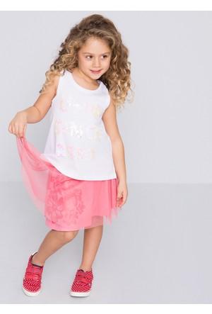 U.S. Polo Assn. Kız Çocuk Vivien Elbise Pembe