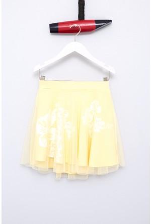 U.S. Polo Assn. Kız Çocuk Vivien Elbise Sarı