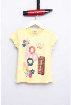 U.S. Polo Assn. Kız Çocuk Gerik T-Shirt Sarı