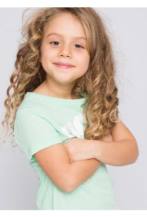 U.S. Polo Assn. Kız Çocuk Vean T-Shirt Yeşil