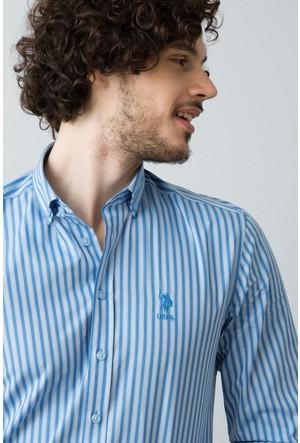 U.S. Polo Assn. Erkek Etic2 Gömlek Mavi