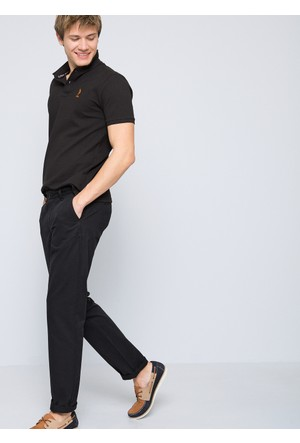 U.S. Polo Assn. Erkek Krl017Y-Ing Pantolon Siyah