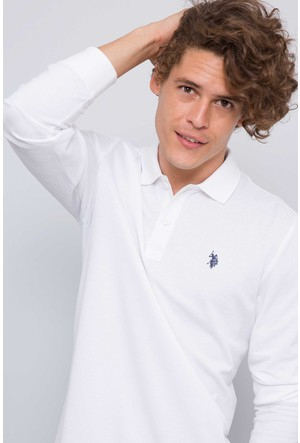 U.S. Polo Assn. Erkek Gtp01Sk7 Sweatshirt Beyaz
