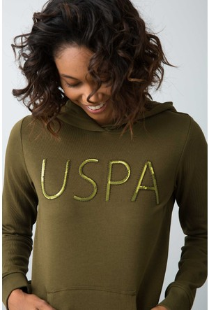 U.S. Polo Assn. Kadın Havel Sweatshirt Yeşil