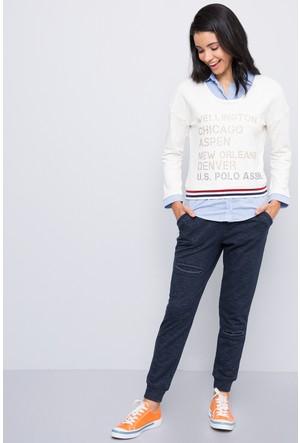 U.S. Polo Assn. Kadın Hezat Sweatshirt Beyaz