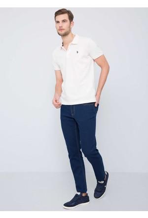 U.S. Polo Assn. Erkek Gtp04İy7 T-Shirt Beyaz