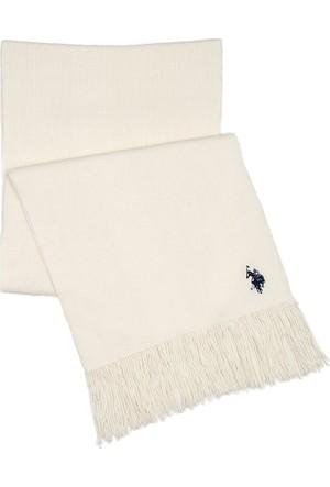 U.S. Polo Assn. Erkek Kaşkol Beyaz