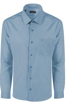 Sabri Özel 3501 Düğmesiz Yaka Cepli Klasik Kesim Gömlek