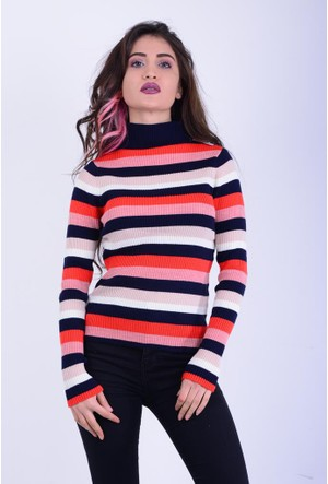Mixray Kadın Renkli Kazak 17-2B136009
