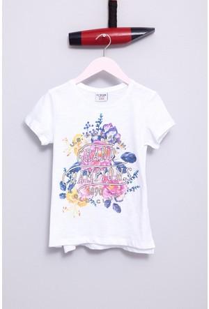 U.S. Polo Assn. Kız Çocuk Vasket T-Shirt Beyaz
