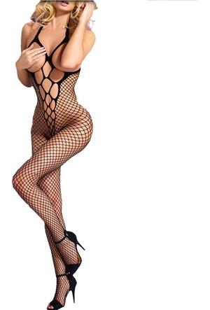 Kiska Fileli Vücut Çorabı