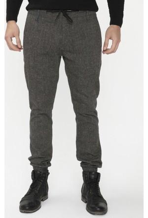 Xint Paçaları Lastikli Siyah Pantolon