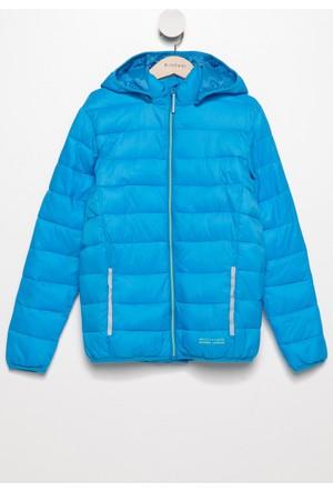 DeFacto Erkek Çocuk Gizli Kapşonlu Polarlı Mont Mavi