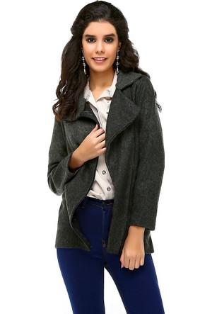 Bonalodi Keçe Kumaş Eğrelti Yeşili Kadın Ceket