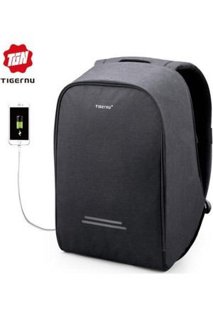 The Pack Tigernu TB3213 USB'li Laptop Sırt Çantası - Siyah