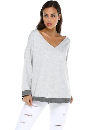 Quincey Kadın Lame Detaylı Sweatshirt
