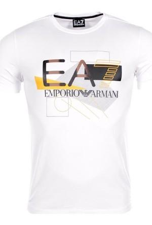 EA7 Erkek Bisiklet Yaka Tişört