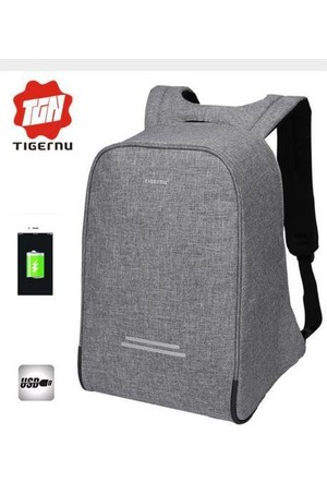 The Pack Tigernu TB3213 USB'li Laptop Sırt Çantası - Gri