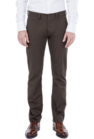 AVVA Yağ Yeşili Erkek Dokuma Chino Basics Pantolon B003556