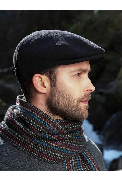 Modamarka Shop Erkek Şapka Kışlık Flat Cap Yün Kasket Antrasit