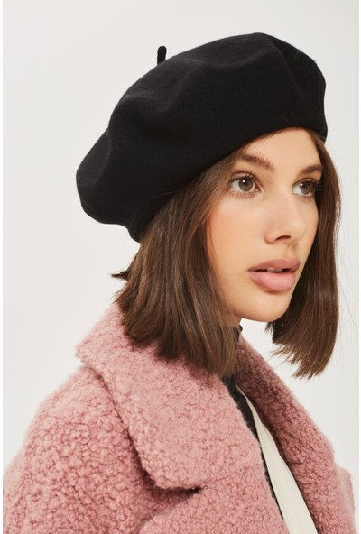 Modamarka Shop Kadın Ressam Beresi Fransız Şapka Siyah